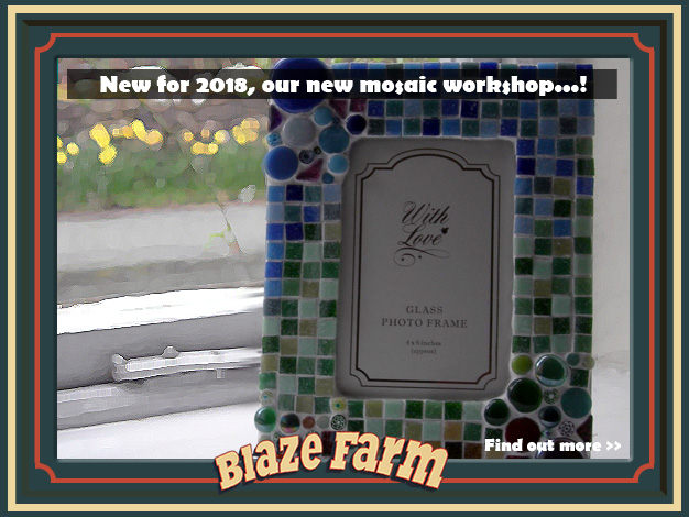 New for 2018, our new mosaic workshop...! Click for further information.