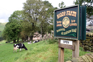 Blaze Farm is open from 10am to 5.30pm all year round, Tuesday to Sunday and also Bank Holiday Mondays.