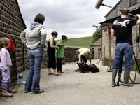 Filming for 'Year of Food and Farming' campaign